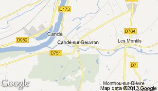 Plan de Candé-sur-Beuvron
