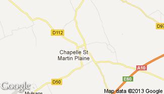 Plan de La Chapelle-Saint-Martin-en-Plaine