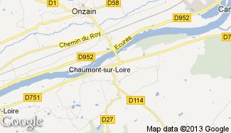 Plan de Chaumont-sur-Loire