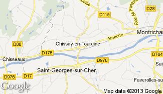 Plan de Chissay-en-Touraine