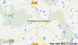 Plan de Fontaines-en-Sologne