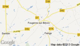 Plan de Fougères-sur-Bièvre