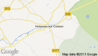 Plan de Huisseau-sur-Cosson