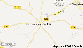 Plan de Landes-le-Gaulois
