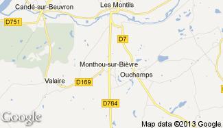 Plan de Monthou-sur-Bièvre