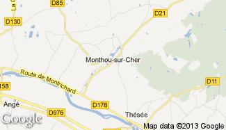 Plan de Monthou-sur-Cher