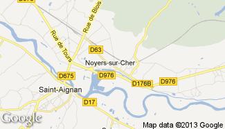 Plan de Noyers-sur-Cher