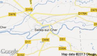 Plan de Selles-sur-Cher