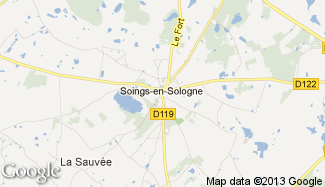 Plan de Soings-en-Sologne