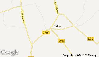 Plan de Talcy
