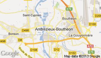 Plan de Andrézieux-Bouthéon