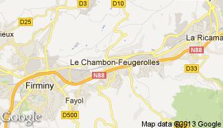 Plan de Le Chambon-Feugerolles