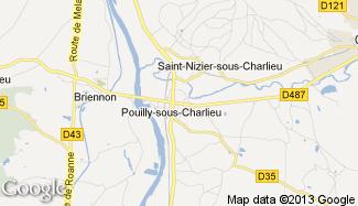 Plan de Pouilly-sous-Charlieu