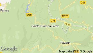 Plan de Sainte-Croix-en-Jarez