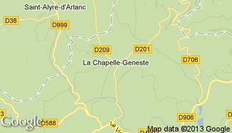 Plan de La Chapelle-Geneste