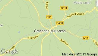 Plan de Craponne-sur-Arzon