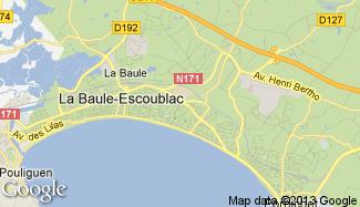 Plan de La Baule-Escoublac
