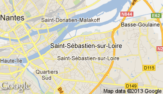 Plan de Saint-Sébastien-sur-Loire