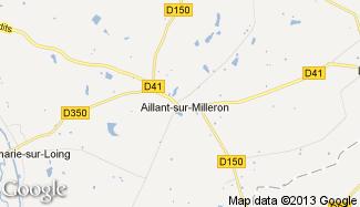 Plan de Aillant-sur-Milleron