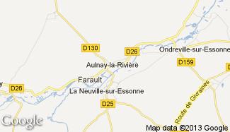 Plan de Aulnay-la-Rivière