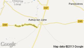 Plan de Autruy-sur-Juine