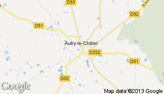 Plan de Autry-le-Châtel