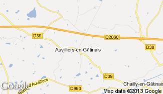 Plan de Auvilliers-en-Gâtinais