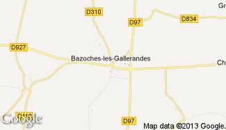 Plan de Bazoches-les-Gallerandes