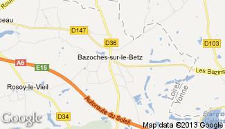 Plan de Bazoches-sur-le-Betz