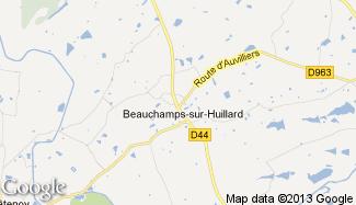 Plan de Beauchamps-sur-Huillard