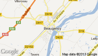 Plan de Beaugency
