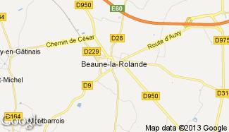 Plan de Beaune-la-Rolande
