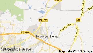Plan de Boigny-sur-Bionne