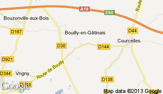 Plan de Bouilly-en-Gâtinais
