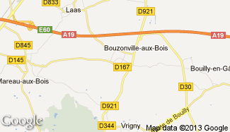 Plan de Bouzonville-aux-Bois