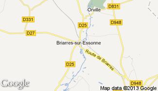 Plan de Briarres-sur-Essonne