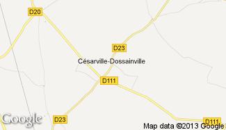 Plan de Césarville-Dossainville