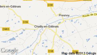 Plan de Chailly-en-Gâtinais