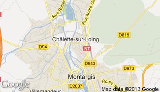 Plan de Châlette-sur-Loing