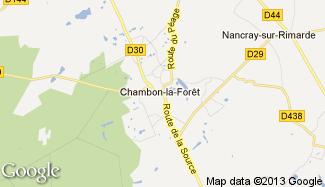 Plan de Chambon-la-Forêt