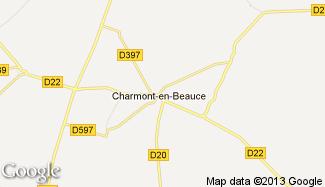 Plan de Charmont-en-Beauce