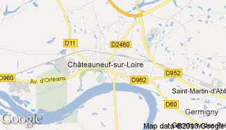 Plan de Châteauneuf-sur-Loire