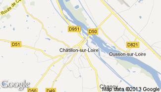 Plan de Châtillon-sur-Loire