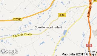Plan de Chevillon-sur-Huillard