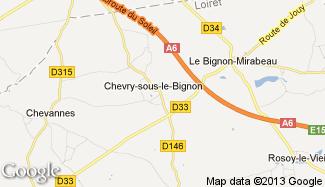 Plan de Chevry-sous-le-Bignon