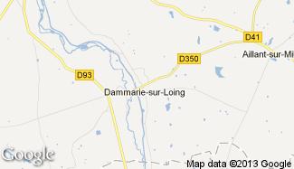 Plan de Dammarie-sur-Loing