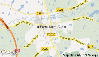 Plan de La Ferté-Saint-Aubin