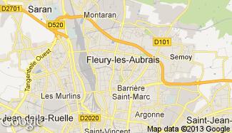 Plan de Fleury-les-Aubrais