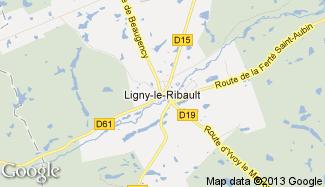 Plan de Ligny-le-Ribault