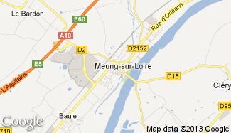 Plan de Meung-sur-Loire